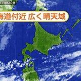 北海道 連休中の天気