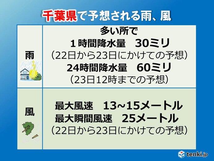 被災地・千葉県でも再び台風の影響 雨風強まる