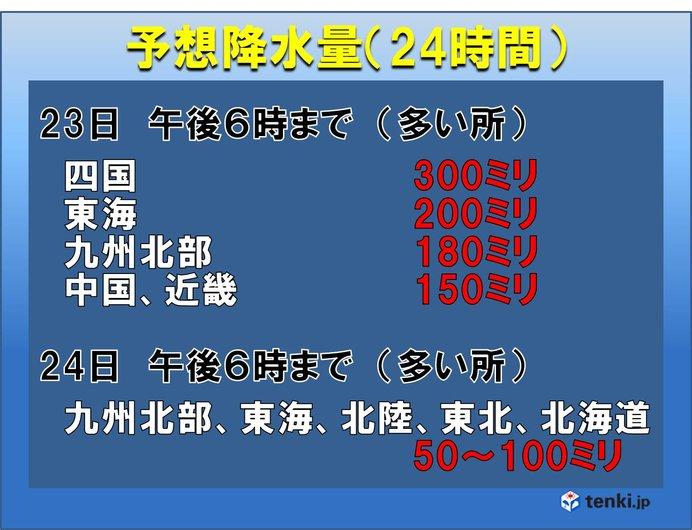 日本列島 広い範囲で 大雨警戒