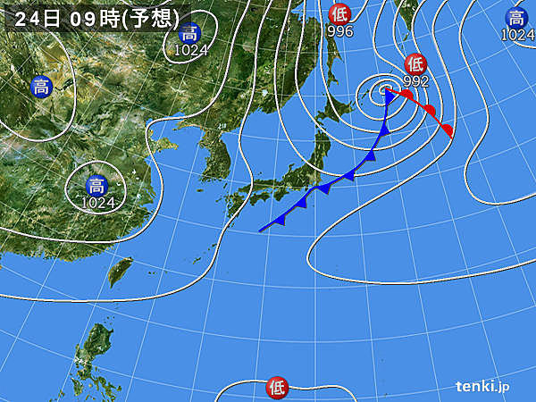 あす24日 北日本は引き続き風が強い