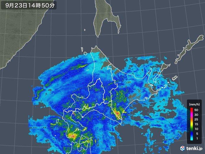雨は既に全道に