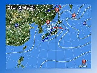 温帯低気圧による 暴風や高波の警戒期間
