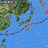 9日の天気 冷湿な北東風が続く