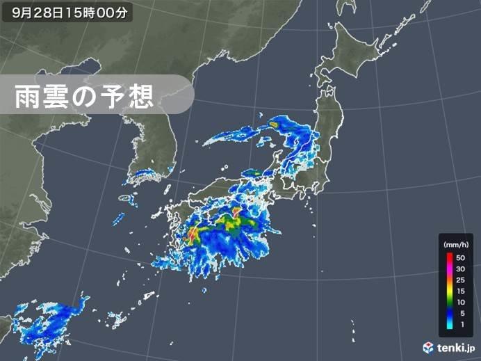 きょう28日(土)の天気