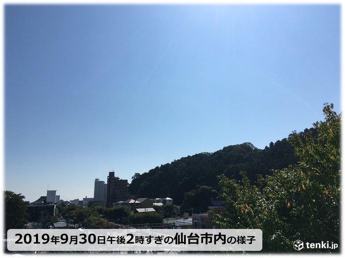 季節はずれの暑さ 仙台市