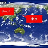 灼熱の地ドーハと東京の真夏 暑さ比較
