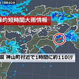 徳島県 で約110ミリ 記録的短時間大雨