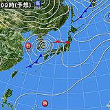 台風18号 西日本で激しい雨 金曜~東・北日本も