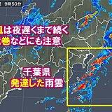 千葉県で非常に激しい雨 強風は夜まで続く