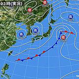 10日 急な雨や雷雨注意 関東は寒さ解消