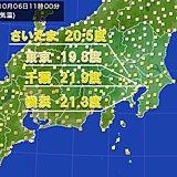 6日(日) 関東地方の午後の天気と気温