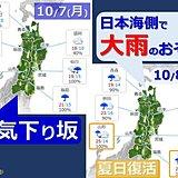 8日は日本海側で大雨のおそれ 東北