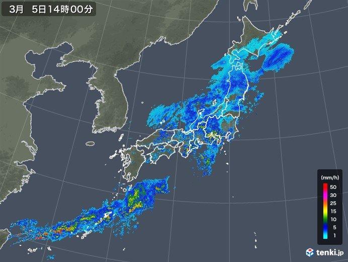 晴天から一転 激しい雨も