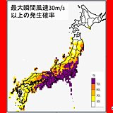 台風 30メートル以上の風エリア 停電や交通障害も