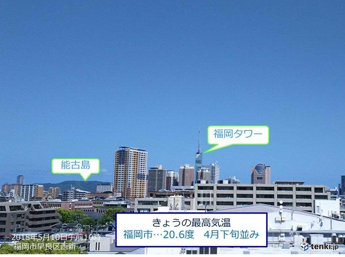 福岡 きょう(10日)は五月晴れ