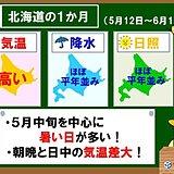 北海道の1か月 暑い日多いが気温差大