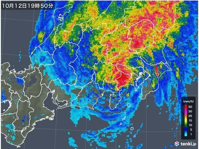 台風19号 降り続く関東甲信の記録的大雨 いつまで