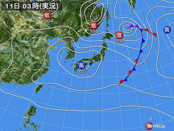 11日 関東以北 寒さ一転 夏日の所も