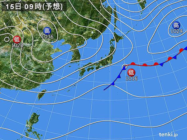 15日(火)は東京都心の最高気温11月並み 土日は広く曇りや雨