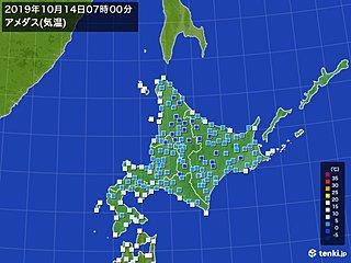 100地点近くで氷点下の冷え込み 北海道は初氷