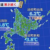 寒さ続く北海道 氷点下や最高でも一桁