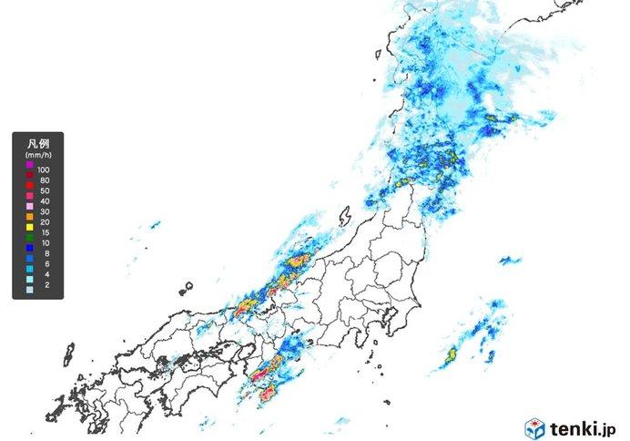 あちらこちらで雨雲発達 夜にかけて雨の降り方に注意