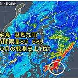 22日 やまない雨 局地的に非常に激しい雨