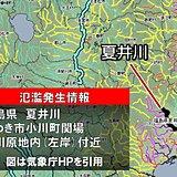 大雨 夏井川で氾濫発生