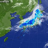 13日 全国的に雨 局地的な大雨の恐れ