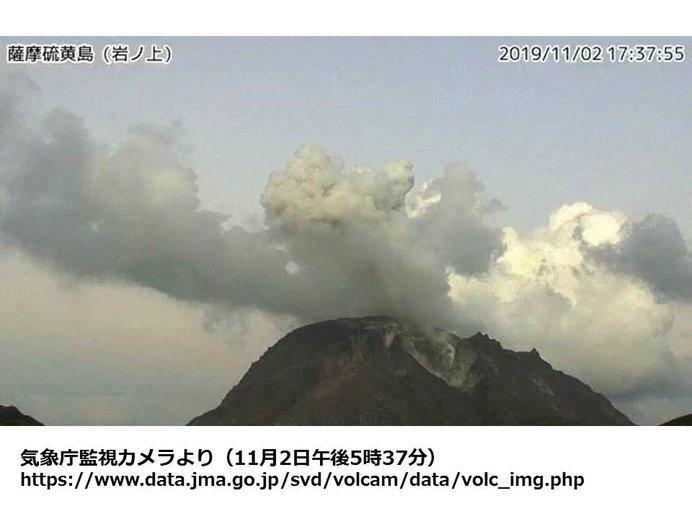 鹿児島県の薩摩硫黄島で噴火が発生
