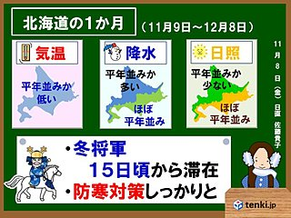 北海道の1か月 冬将軍行ったり来たり