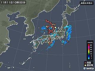 近畿や北陸に活発な雷雲 落雷や「ひょう」に注意