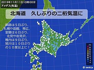 北海道 久しぶりの二桁気温に
