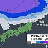 冬将軍襲来 強烈寒気で気温急降下 風が冷たい