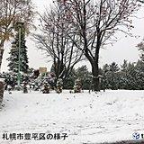 市街地でも雪景色 西日本から初冠雪の便り