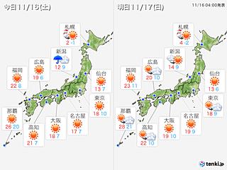 北海道は暴風雪 週明けは広く雨 雨のあと寒くなる