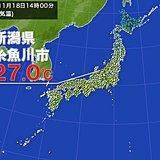 もう11月なのに…新潟県で27.0度の夏日を観測