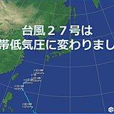 台風27号は熱帯低気圧に変わりました