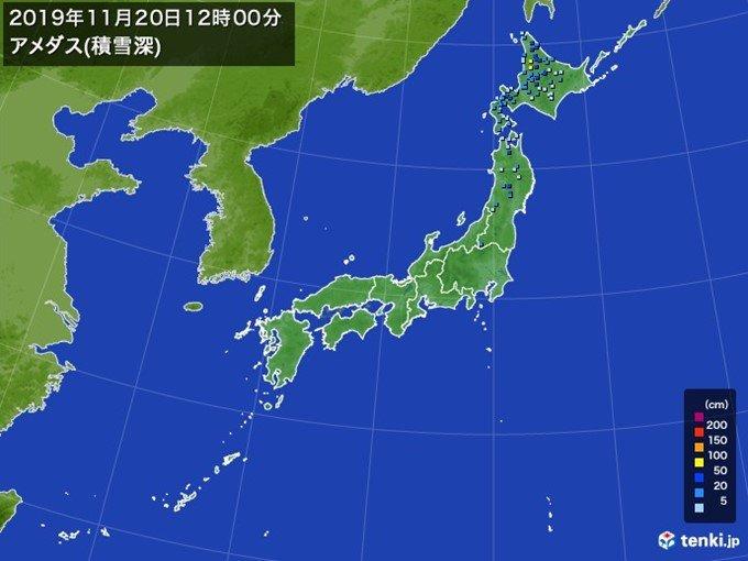 北は暴風 積雪増加 青森など東北北部の平地も積雪