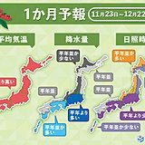 本格的な冬の訪れはゆっくり 1か月予報