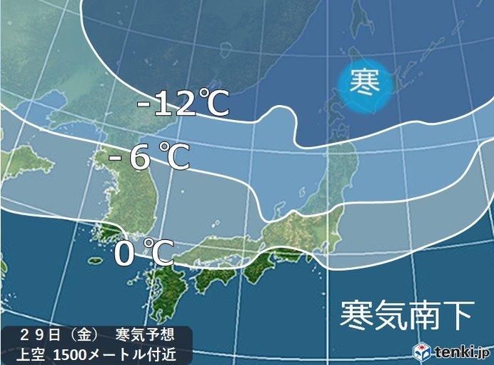 北陸 来週末雪の可能性 タイヤ交換は明日がオススメ