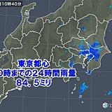 東京都心 たった24時間で11月平均の約9割の雨量