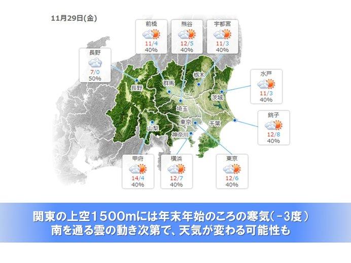 26日(火)以降は日に日に寒く 週後半は東日本平野部で雪の可能性