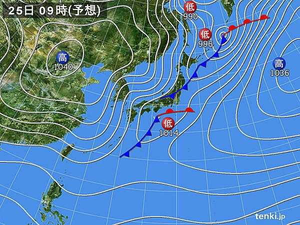 昼頃にかけて雨の所が多い 東京都心の雨は昼過ぎに一時的