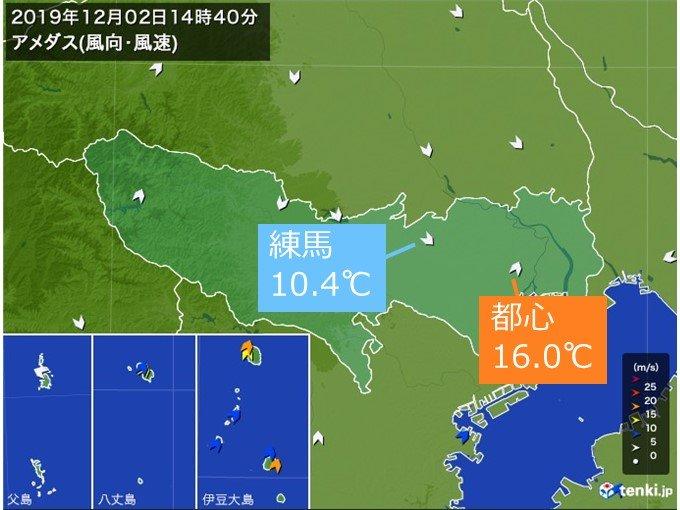 東京 虹がかかる 西から押し寄せる冷たい空気の雲(日直予報士 2019年12 ...