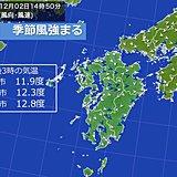 九州 季節風強まる 今週は低温傾向続く