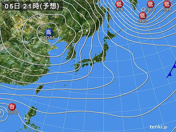 5日 日本海側は断続的に雪 今シーズン一番の積雪に
