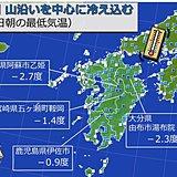 九州 週末にかけて寒さ続く