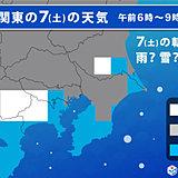 土曜の関東 平野部も雪降る? 昼間は5度未満と厳寒