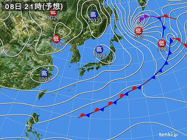 関東から九州 太平洋側ほど晴れ 日本海側も次第に回復